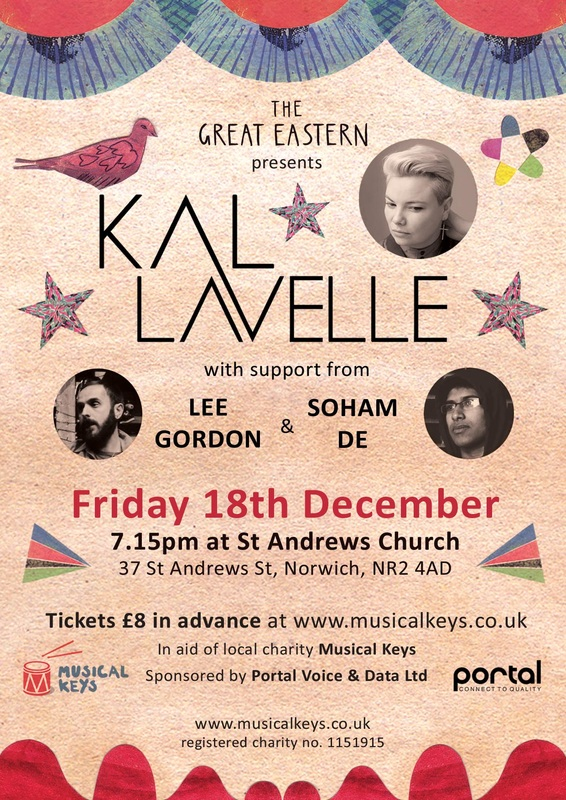 Kal Lavelle St Andrews Church Norwich Musical Keys Poster