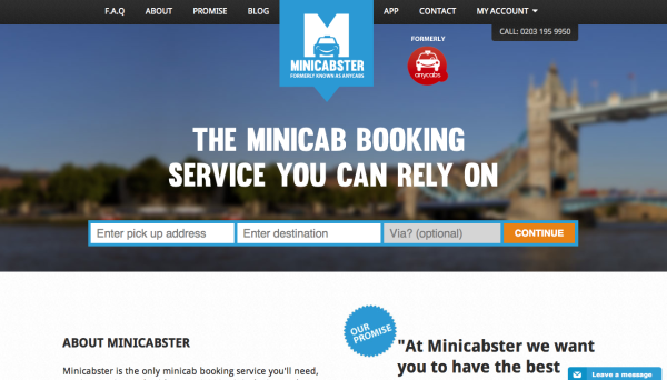 MiniCabster Cheap cabs London